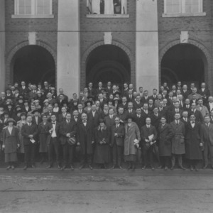 Agents and specialists attending conference, North Carolina State College of Agriculture and Mechanic Arts, Dec. 1922
