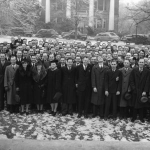 Extension workers at annual conference who are graduates of North Carolina State College, January 1940