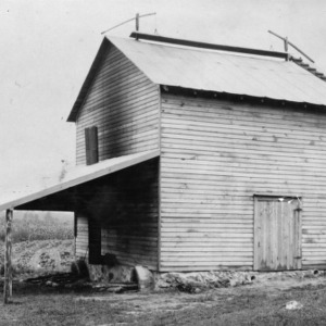 Tobacco experiment station, curing barn, 22 ft. square, Oxford, N.C.