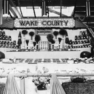 Display for balanced farming presented by Wake County, North Carolina, 1920s