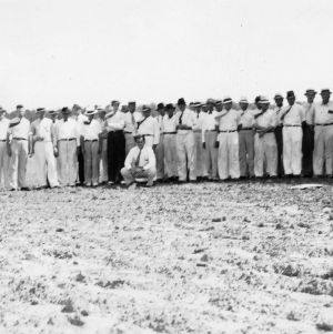 Group photograph of people on the Nash County agronomy and farm management tour, June 22, 1937