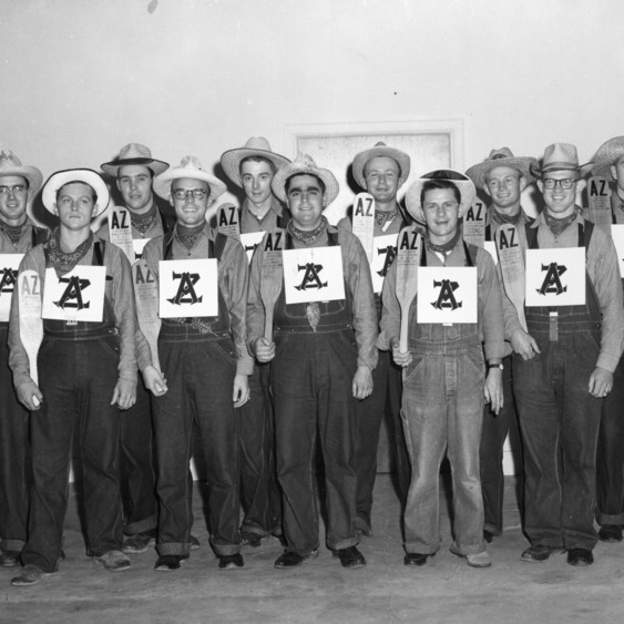1945 members of Alpha Zeta, the agricultural honor society