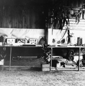 Exhibit of the Oxford Laboratory of the BEPQ at the Fifteenth Annual Field Day of the Oxford Tobacco Test Station for tobacco growers of North Carolina