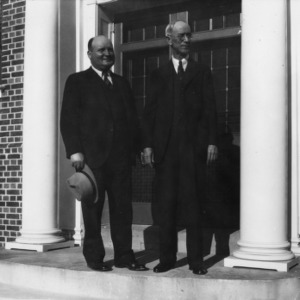 Dr. Garnor and Mr. W. H. White the day after the reception for the opening of the laboratory