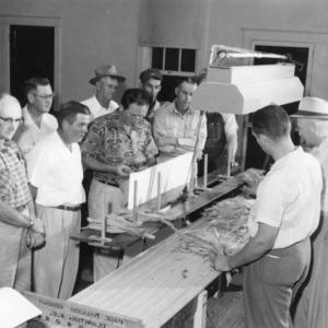 Tobacco grading demonstration