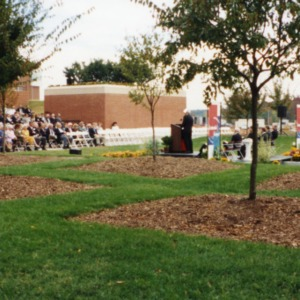 Ten year celebration set up at Centennial Campus