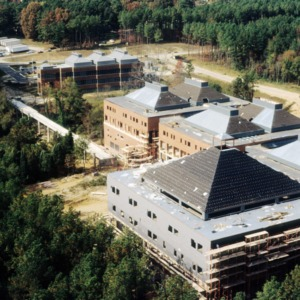 Aerial view of the College of Textiles on Centennial Campus