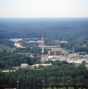 Aerial view of Centennial Campus from North Campus