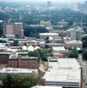 Aerial view of NC State North Campus