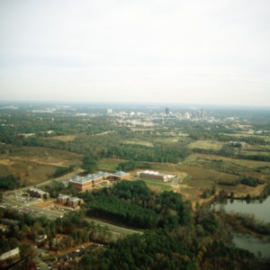 Aerial view of NC State Centennial Campus