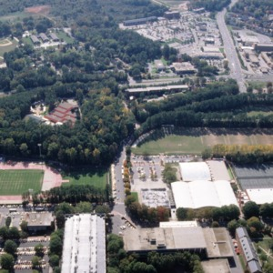 Aerial view of NC State's Main Campus