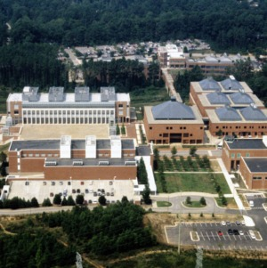 Aerial view, Centennial Campus, North Carolina State