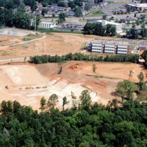Aeriel view of Lucent site construction on Centennial Campus