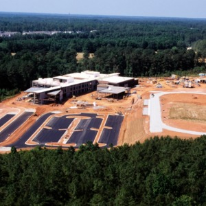 Aerial view of Centennial Campus Middle School site construction