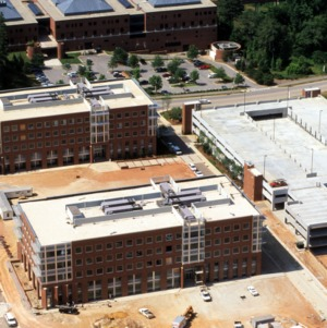 Aerial view of Venture Center on Centennial Campus