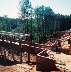 Construction of the bridge, Centennial Campus, North Carolina State