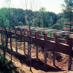 Construction of the bridge on Centennial Campus
