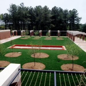 College of Textiles courtyard, Centennial Campus, North Carolina State