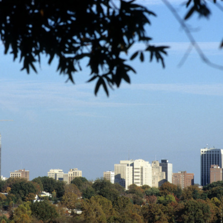 Raleigh skyline from Dix campus, Centennial Campus, North Carolina State
