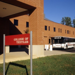 College of Textiles signage on Centennial Campus