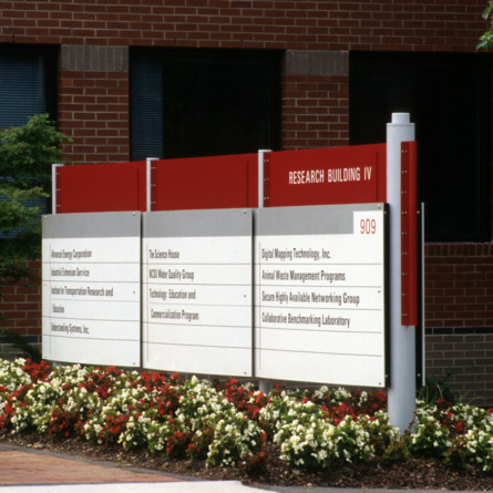 Signage on Centennial Campus, Centennial Campus, North Carolina State