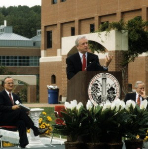 James Hunt speaking at Centennial Campus's ten year celebration