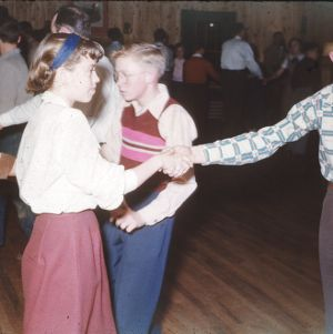 Boys and girls dancing