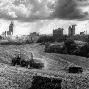 Field and city, Winston-Salem, N.C.