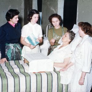 Home nursing course in H.D. meet, Cabarrus Co.