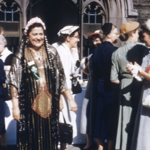 Mrs. Matilda Greiss (Egypt) in her wedding costume at the tea
