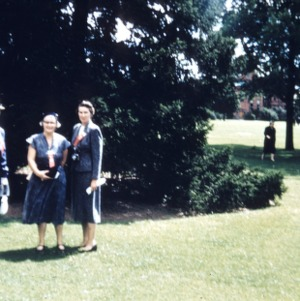 Mrs. George (Beulah) Apperson, Mrs. Yancey, and Mrs. Graham at University of Guelph