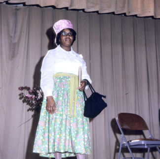 African-American woman in fashion show