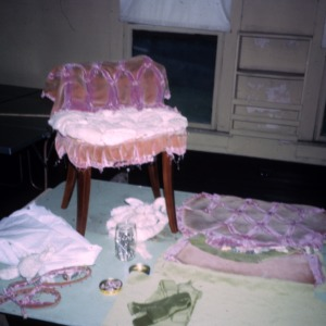 Reupholstering chair of agent Alice Bennett