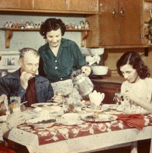 Family at dinner-time