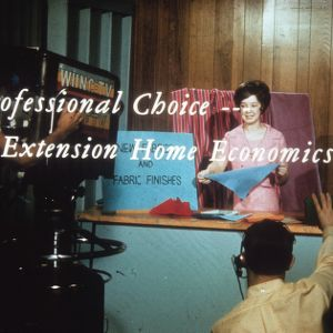 A professional choice--extension home economics