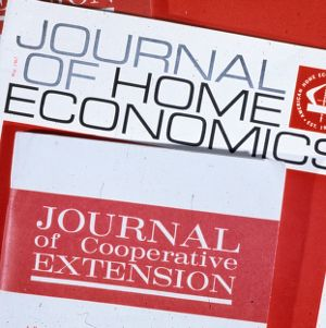 Covers of Journal of Home Economics and Journal of Cooperative Extension