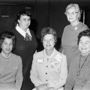 Eloise Cofer with four other women