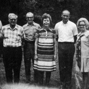 Eloise Cofer with a group of people