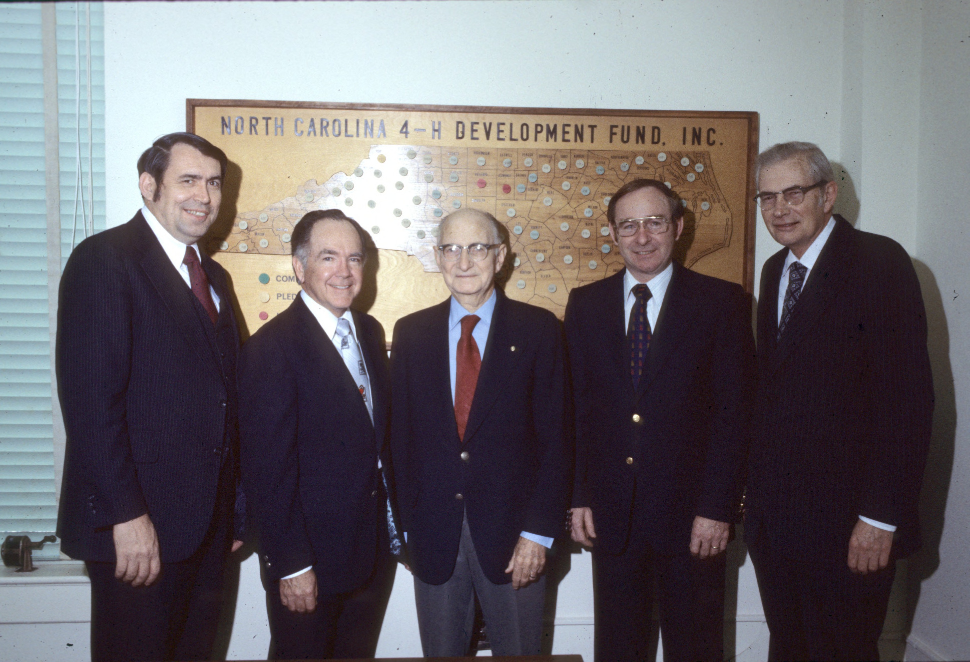 L. R. Harrill with Blalock, Black, Stormer, and Hyatt