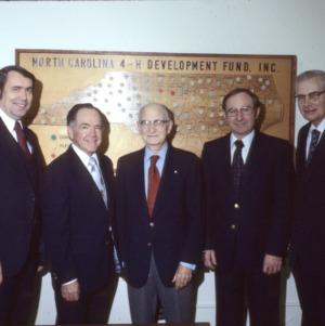 L. R. Harrill with Blalock, Black, Stormer, and Hyatt