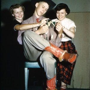 1951 4-H Congress knitting skit