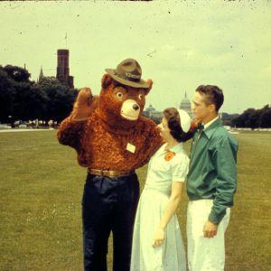 Smokey Bear and 4-Hers at 1958 4-H Congress