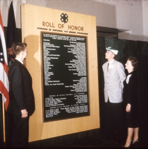 1959 4-H Congress role of honor