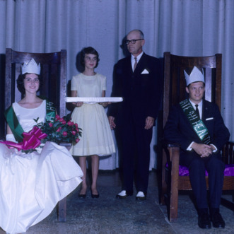 1964 4-H club week king and queen