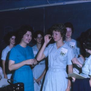 4-H Club week beauty demonstration