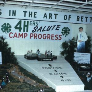 Forsyth county 4-H'ers salute 4-H camp progress