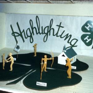 "Cherokee Reservation 4-H display ""Highlighting"""