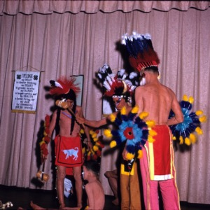 4-H boys performing in costume