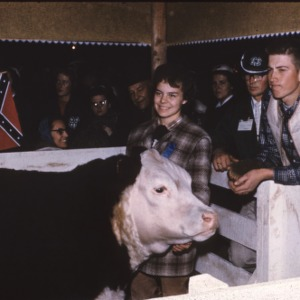 1959 4-H Congress young woman and cow