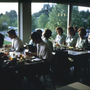 4-H Club members having a meal